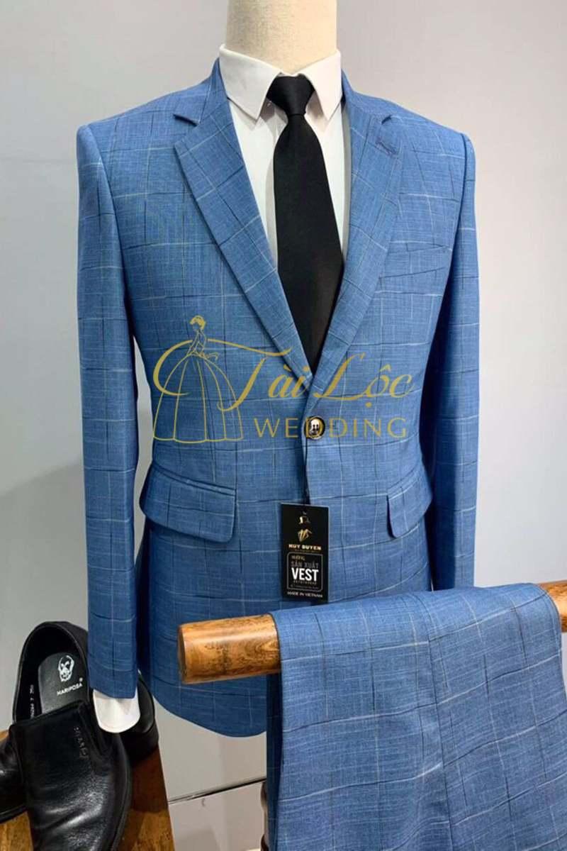 Áo vest nam màu xanh navy lịch lãm