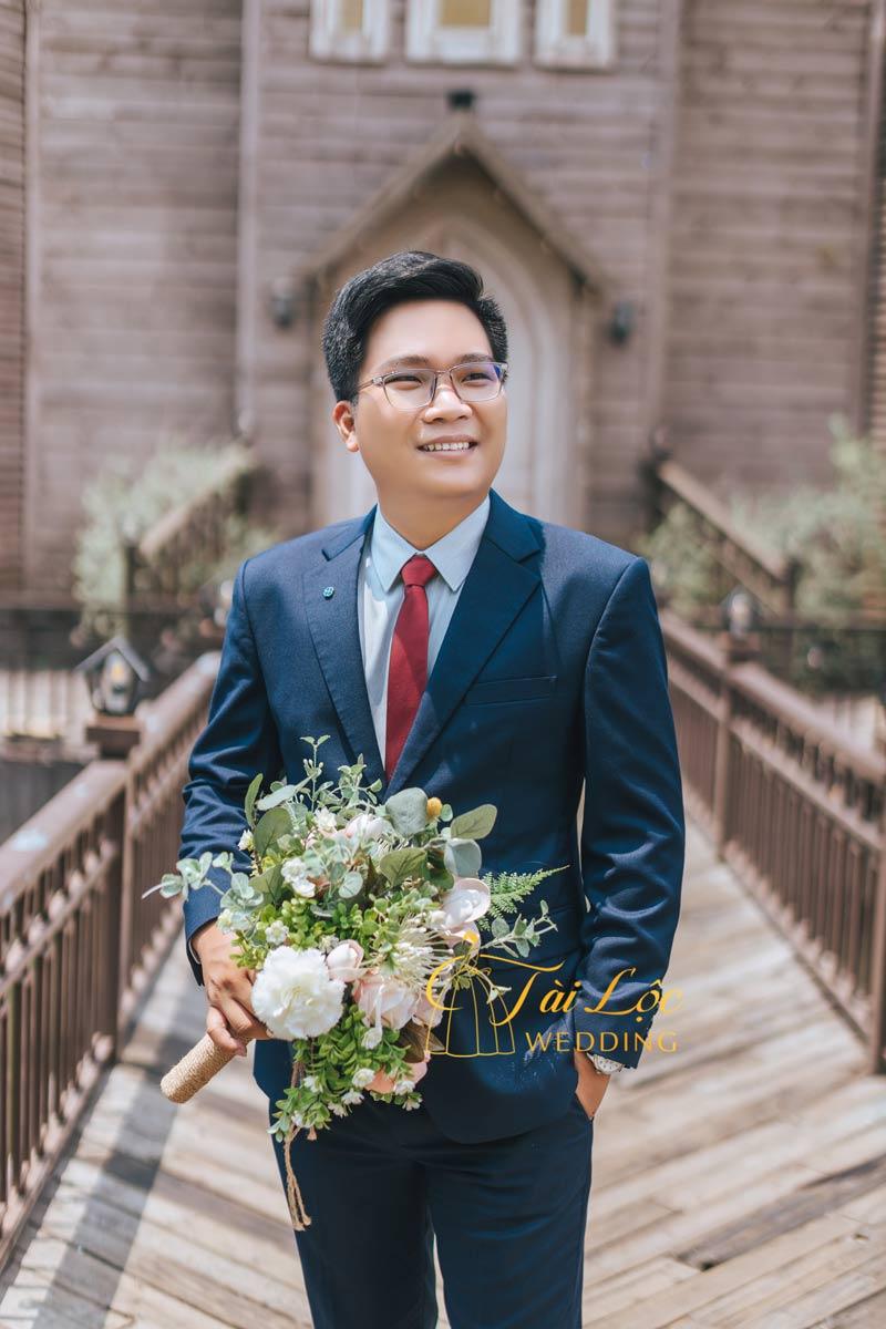 Vest cưới chú rể 2 nút